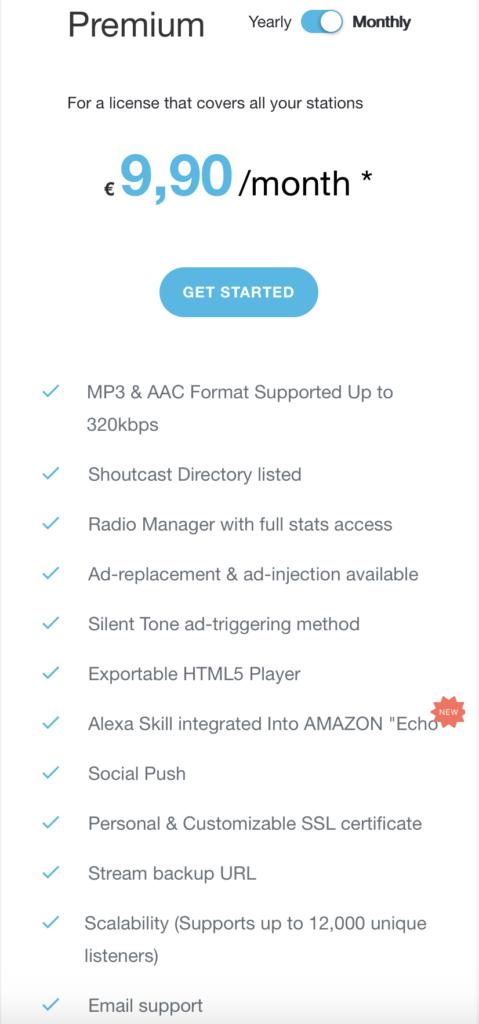 SHOUTcast V2.6 Premium