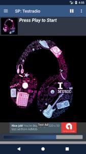 STREAMPANEL Apps V4 Einzelnes Webradio mit Werbung