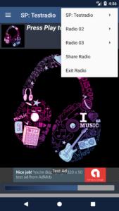 STREAMPANEL Apps V4 Mehrere Webradios