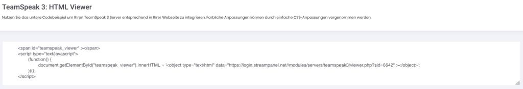 Teamspeak 3 HTML Viewer