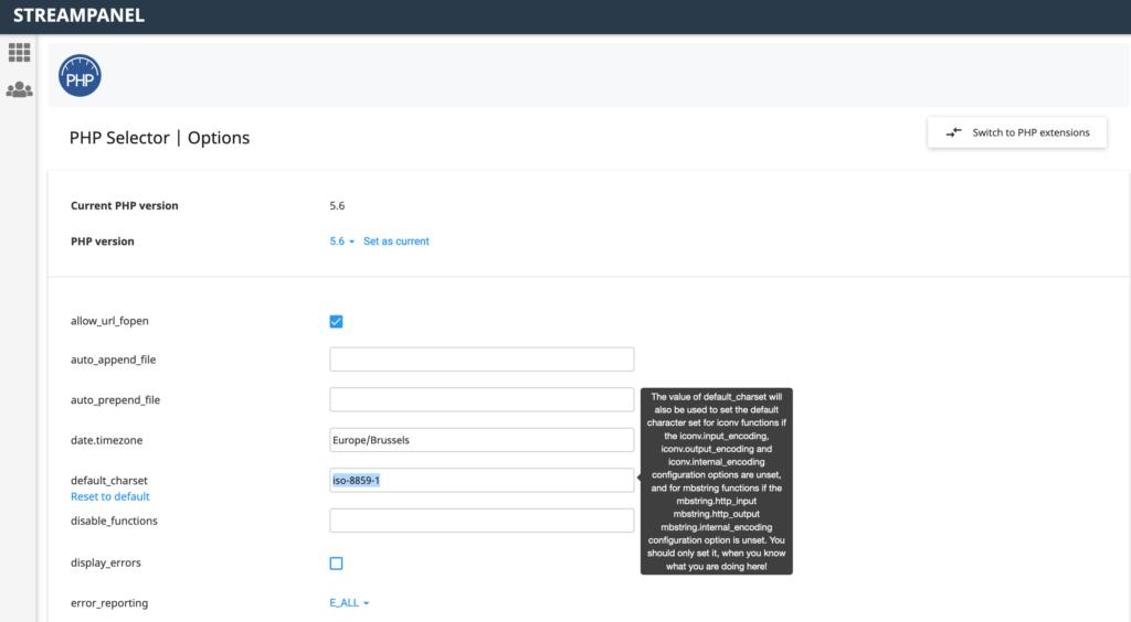 Webhosting Charset auf iso 8859 1 ändern